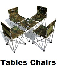 camp tables chairs