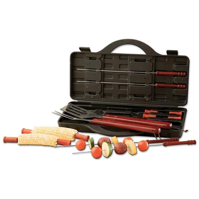 Pc stainless steel barbecue tool set
