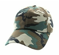 Cotton Woodland Camo Hunting Cap