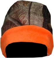 Reversible Camo Blaze Orange Beanie Cap