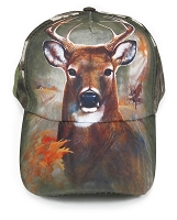Deer Bust Hunter Camo Cap