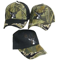 Camo Hunting Hat with Deer