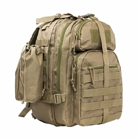 Tan Sling Backpack with Pistol Compartment