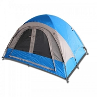 3-Person Camping Tent - Red or Blue
