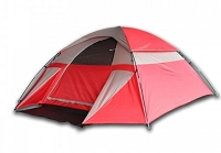 3 Person Dome Camping Tent - Red or Blue