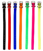 "3/4"" Dayglo Dog Collar With D-Ring  Sizes 14"