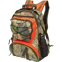 Orange Camo Water Resistant Backpack