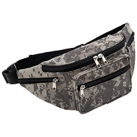 Camo Water-Repellent Waist Bag