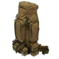 Brown Water Resistant Heavy Duty Backpack