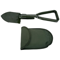 Folding Shovel Serrated Edges and Pick