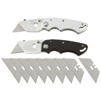 2pc Razor Folding Knives with Blades