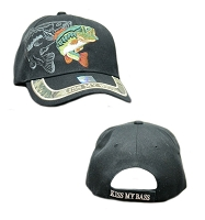 Kiss My Bass Embroidered Cap