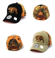 Bear Camo Velcro Adjustable Cap