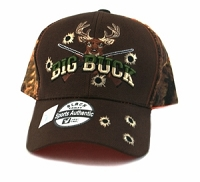 Big Buck Hat Black Orange Woodland Camo
