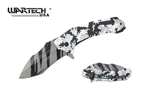 Hunter White Camo Spring Assisted Knife