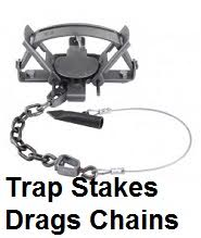 trap drags stakes chains