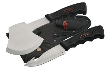 Black Guthook Knife Hatchet Set
