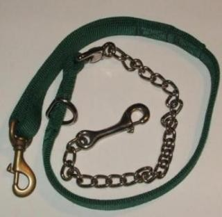 "2 ply 50"" Dog Leash - 30"" nylon - 20"" Chain"