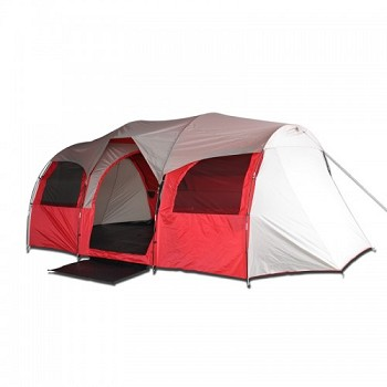 10 Person Camping Tent - Red or Blue