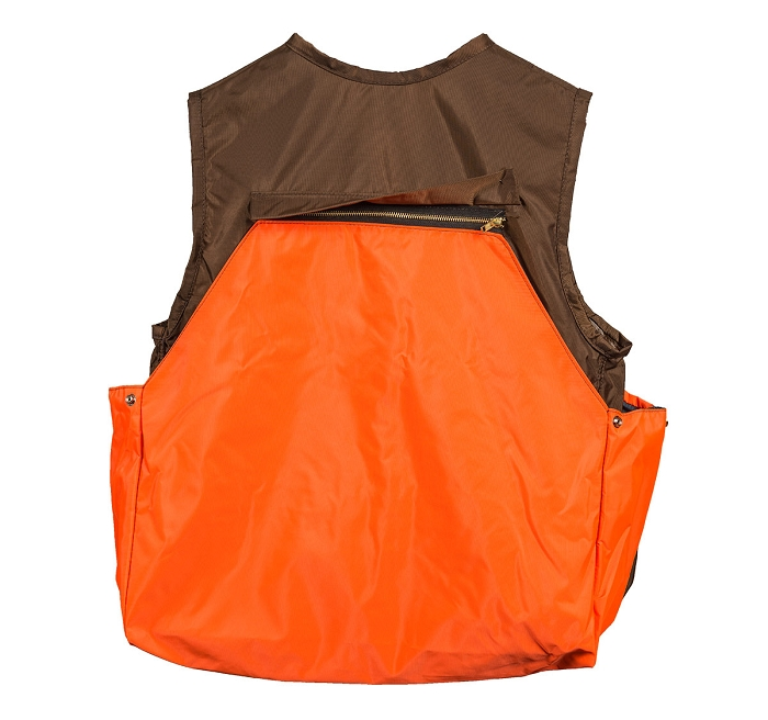 Brown Orange Hunting Vest With Bag
