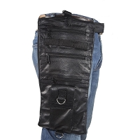 Leather Thigh Bag With Gun Pocket