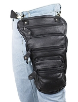 Leather Thigh Bag with Gun Pocket Pouch