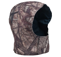 Detachable Jacket Hood in Brown Camo Orange