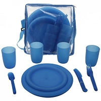 25 Piece Camping Picnic Utensil Set