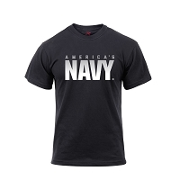 Athletic Fit America's Navy Black T-Shirt