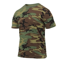 Athletic Fit Woodland Camo T-Shirt