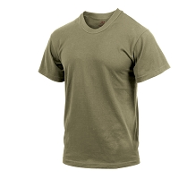 Coyote Brown Solid Color Cotton T-Shirt