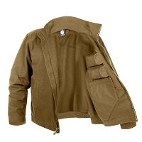 Lightweight Brown Concealed Carry Jacket