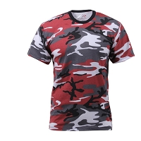 Classic Red Woodland Camo T-Shirt