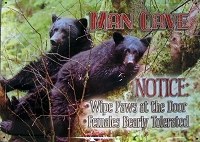 Man Cave Metal Sign with Bears