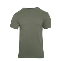 Foliage Green Solid Color Cotton T-Shirt