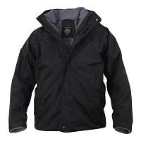 Black All Weather 3 In 1 Jacket