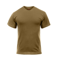 Brown Solid Color Cotton T-Shirt