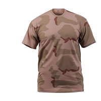 Relaxed Fit Tri-Color Desert Camo T-Shirt