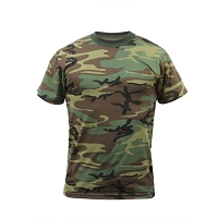 Big Men's Relaxed Fit Woodland Camo T-Shirt