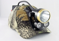 Double Stuff Coon Hunting Cap Light with 2 LED