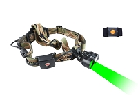 Wireless Remote Dual Green/White Light Headlamp