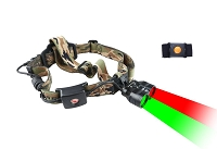 Wireless Remote Dual Red/Green Light Headlamp