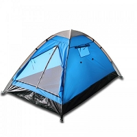 Two Person Camping Tent - Red or Blue