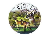 Deer in Nature Wall Clock
