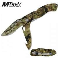 Camouflage Folding Pocket Knife
