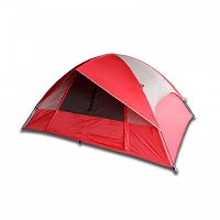 5 Person Camping Tent - Red or Blue