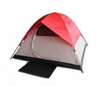 3 Person Camping Tent - Red or Blue