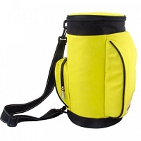 Yellow Insulated Round Cooler Bag