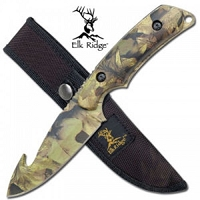 Camouflage Fixed Blade Skinning Knife