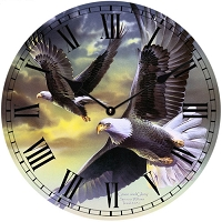 Flying Eagles Wall Clock